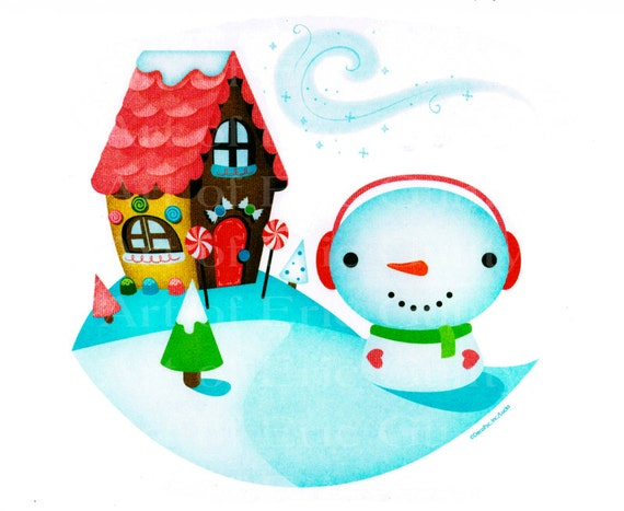 Christmas Snowman Birthday - Edible Cake and Cupcake Topper For Birthday's and Parties! - D22184