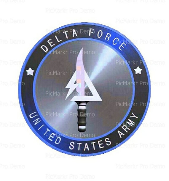 US Army Delta Force Military Logo~ Edible 2D Fondant Birthday Cake/Cupcake Topper ~ D20518