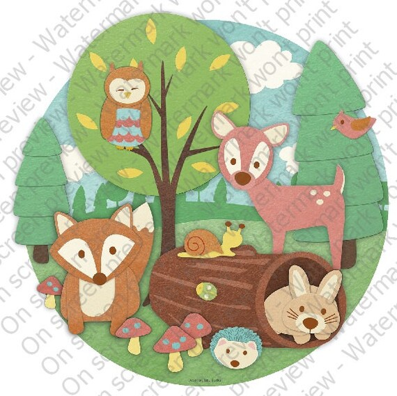 Baby Animals Birthday ~ Edible 2D Fondant Birthday Cake/Cupcake Topper ~ D20118