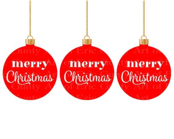 Merry Christmas Ornaments ~ Edible 2D Fondant Birthday Cake/Cupcake Topper ~ D22018