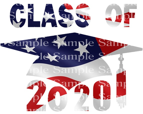 Class of 2020 Patriotic Graduation Cap - 2D Fondant Edible Cake & Cupcake Topper For Birthdays and Parties! - D24253