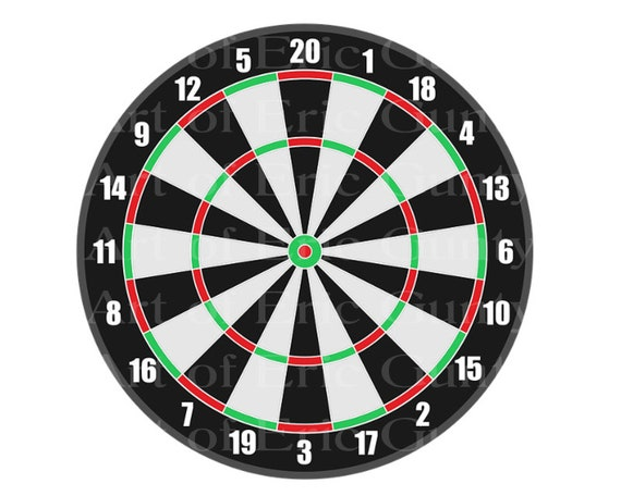 Dart Board Birthday - Edible Cake and Cupcake Topper For Birthday's and Parties! - D22989