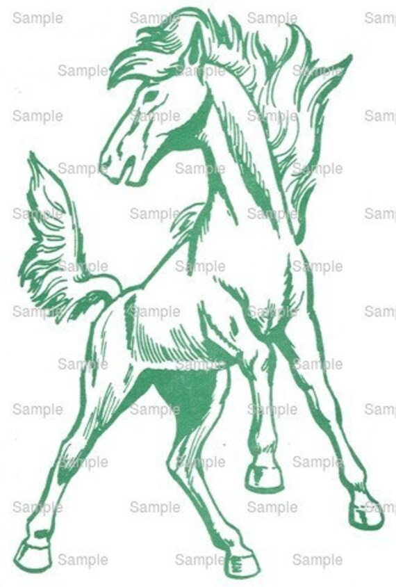 Mustangs Mascot Birthday ~ Edible 2D Fondant Birthday Cake/Cupcake Topper ~ D944