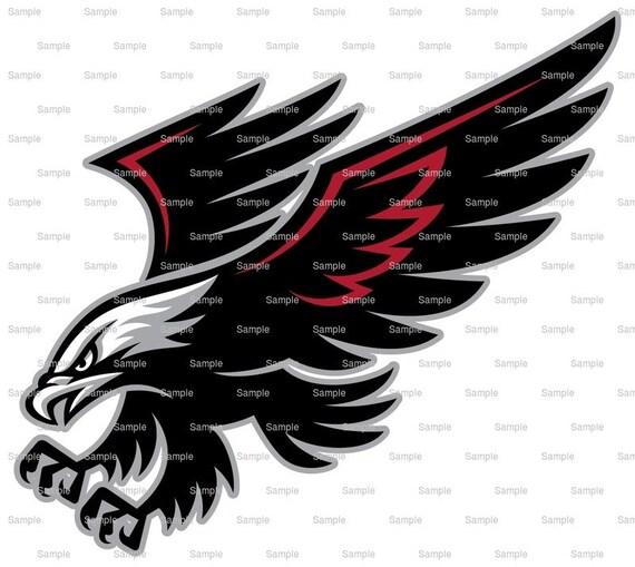 Falcons / Hawks Mascot Birthday ~ Edible 2D Fondant Birthday Cake/Cupcake Topper ~ D932