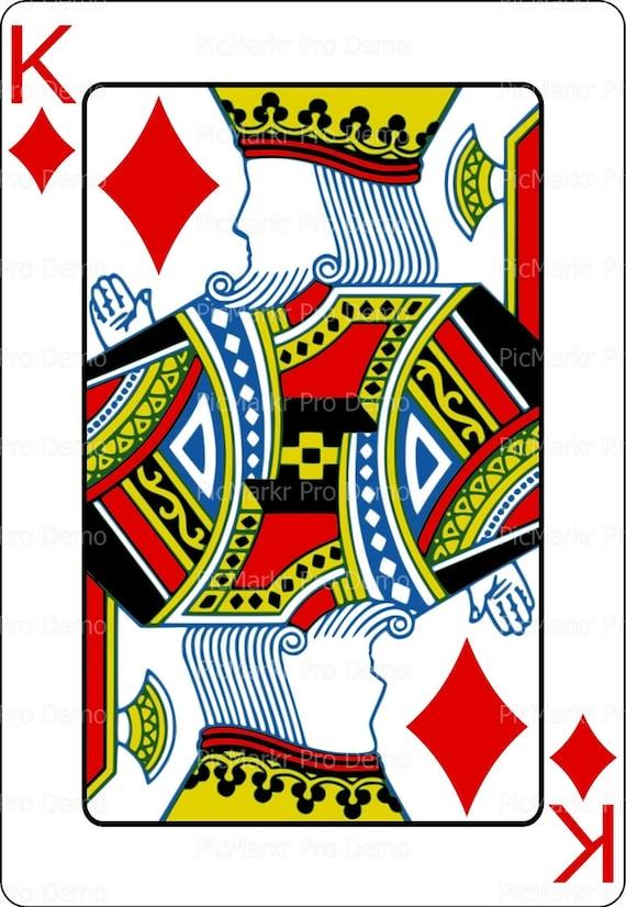 Casino Poker King of Diamonds Birthday ~ Edible 2D Fondant Birthday Cake/Cupcake Topper ~ D21858