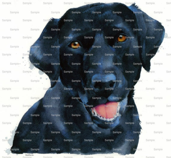 Black Lab Painting Dog Birthday ~ Edible 2D Fondant Birthday Cake/Cupcake Topper ~ D7660