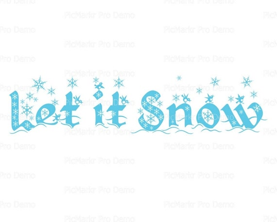 Let It Snow Christmas - Edible Cake and Cupcake Topper For Birthday's and Parties! - D21808
