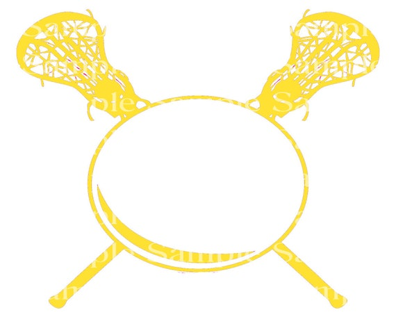 Yellow LaCrosse Birthday - 2D Fondant Edible Cake & Cupcake Topper For Birthdays and Parties! - D24345