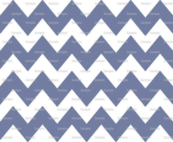 Slate Blue - Chevron Background Birthday - Edible Cake and Cupcake Topper For Birthday's and Parties! - D9849
