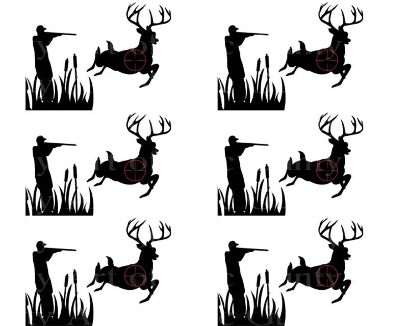 Remarkable Deer Hunting Birthday Art Of Eric Gunty Edible Cake Toppers Personalised Birthday Cards Veneteletsinfo