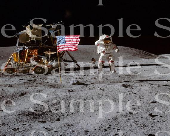 Moon Walk Space Birthday ~ Edible 2D Fondant Birthday Cake/Cupcake Topper ~ D24596