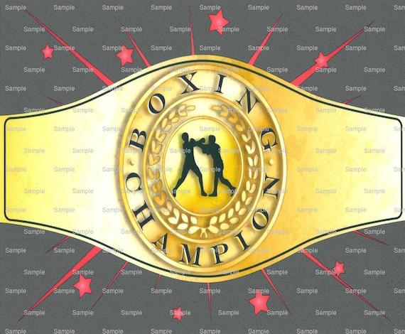 Boxing Champion Belt Birthday ~ Edible 2D Fondant Birthday Cake/Cupcake Topper ~ D891