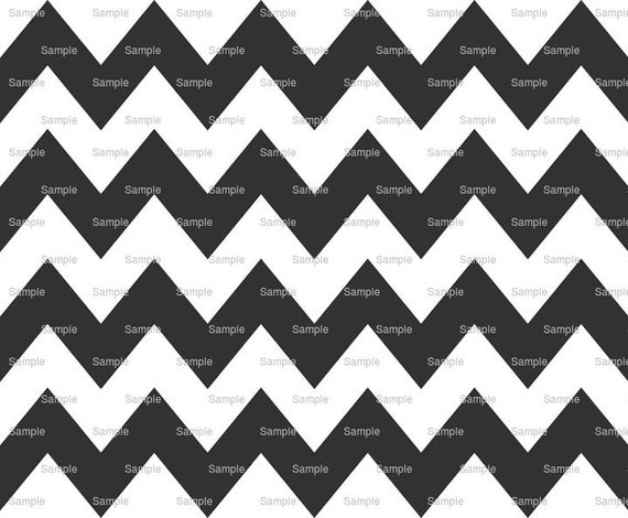 Black - Chevron Background Birthday - Edible Cake and Cupcake Topper For Birthday's and Parties! - D6300