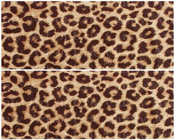 Cheetah Print Jungle Birthday ~ Edible 2D Fondant Birthday Cake Side Toppers ~ D22932