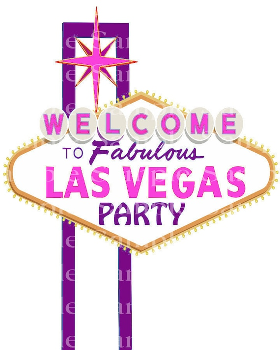 Las Vegas Party Casino Pink & Purple Birthday - Edible Cake and Cupcake Topper For Birthdays and Parties! - D24186