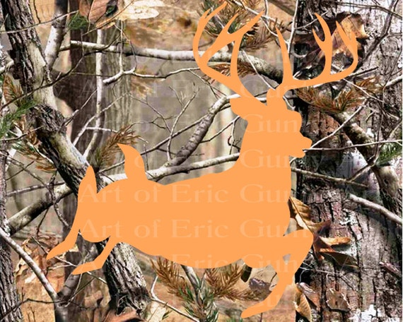 Deer Hunting Camo Birthday ~ Edible 2D Fondant Birthday Cake/Cupcake Topper ~ D22145