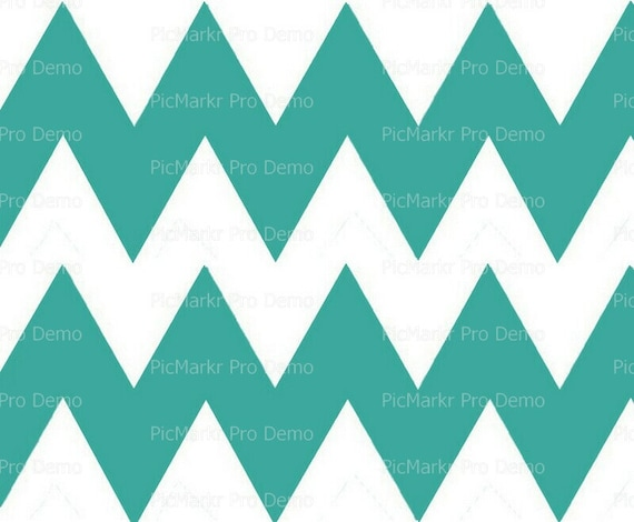 """Large Light Teal - 4"""" Chevron Birthday Background - Side Strips ~ Edible 2D Fondant Birthday Cake Side Toppers ~ D10035"""