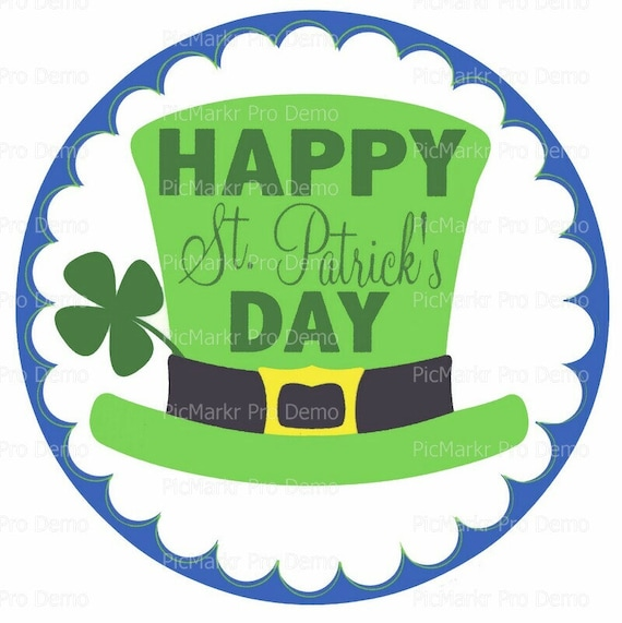 Happy St. Patrick's Day - Edible Cake and Cupcake Topper For Birthday's and Parties! - D9137