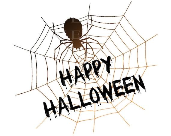 Happy Halloween Spider Web Birthday ~ Edible 2D Fondant Birthday Cake/Cupcake Topper ~ D22637