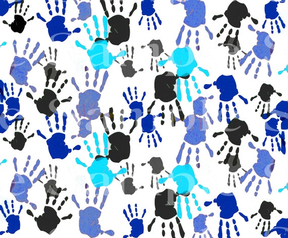 Black & Blue Hands Birthday ~ Edible 2D Fondant Birthday Cake/Cupcake Topper ~ D24524