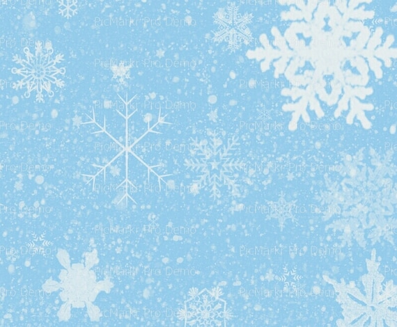Winter Christmas Snowflake Background ~ Edible 2D Fondant Birthday Cake/Cupcake Topper ~ D9604