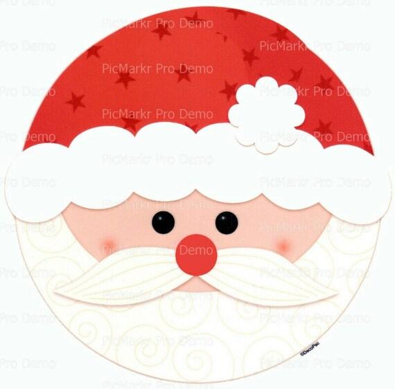 Christmas Santa ~ Edible 2D Fondant Birthday Cake/Cupcake Topper ~ D9006