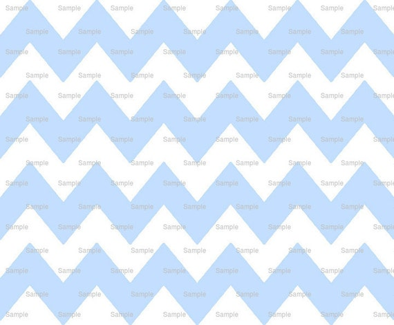 Powder Blue - Chevron Background Birthday - Edible Cake and Cupcake Topper For Birthday's and Parties! - D9844