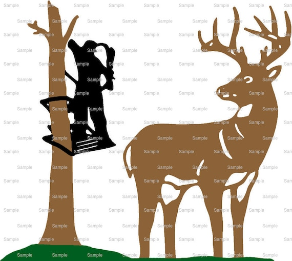Deer Bow Hunting Birthday ~ Edible 2D Fondant Birthday Cake/Cupcake Topper ~ D3952
