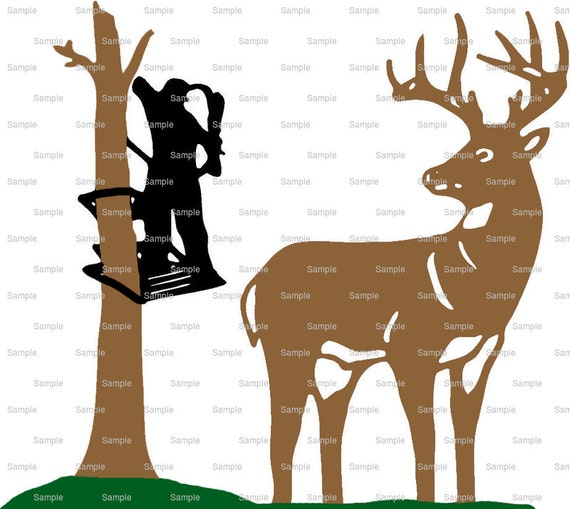 Deer Bow Hunting Birthday - Edible Cake and Cupcake Topper For Birthday's and Parties! - D3952
