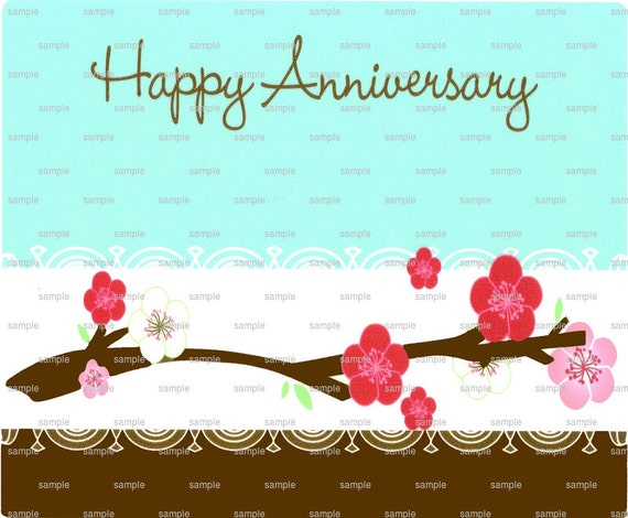 Happy Anniversary - Edible Cake and Cupcake Topper For Birthday's and Parties! - D1182