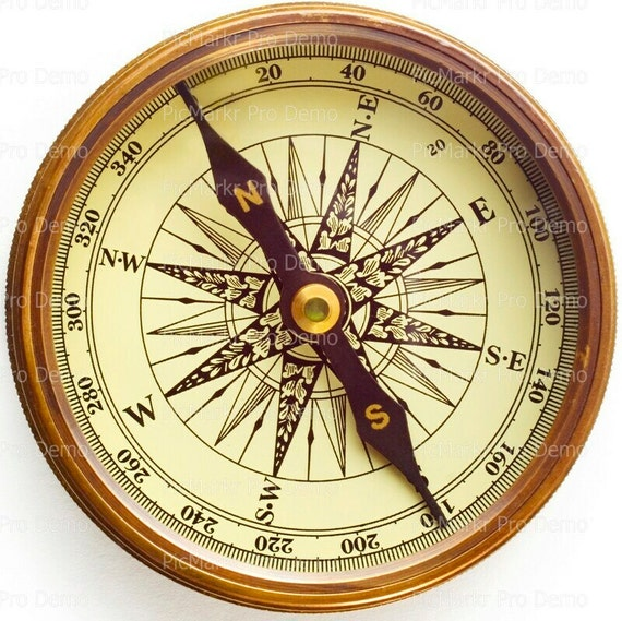 Old Compass Navigation Birthday ~ Edible 2D Fondant Birthday Cake/Cupcake Topper ~ D20520