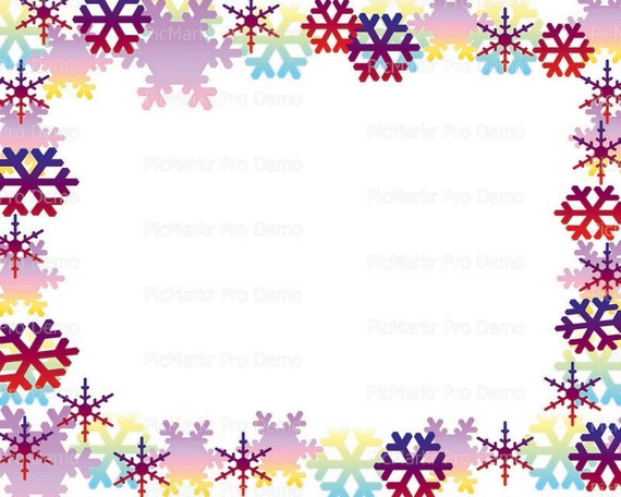 Merry Christmas Holidays Snowflakes - Background Birthday ~ Edible 2D Fondant Birthday Cake/Cupcake Topper ~ D21798