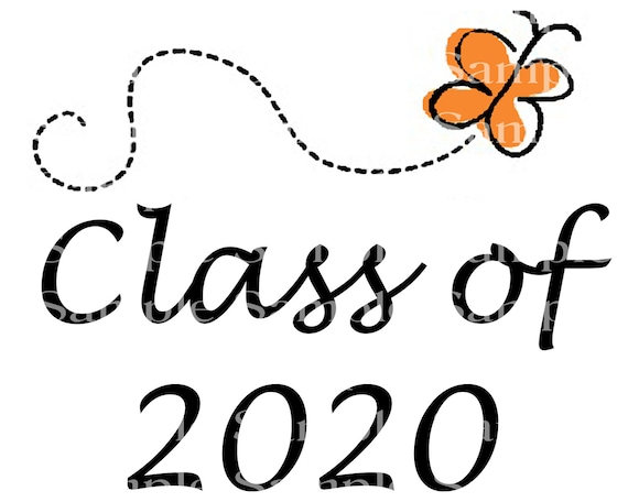 Class of 2020 Butterfly Graduation Cap - 2D Fondant Edible Cake & Cupcake Topper For Birthdays and Parties! - D24257