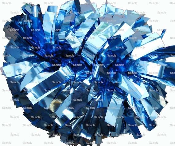 Blue Pom Pon Birthday ~ Edible 2D Fondant Birthday Cake/Cupcake Topper ~ D9982