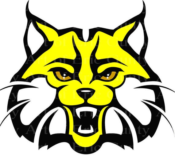 Yellow Bobcat Wildcat Mascot Birthday - Edible Cake and Cupcake Topper For Birthday's and Parties! - D22735