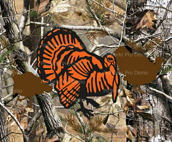 Camo Turkey Hunting Birthday - Edible Cake and Cupcake Topper For Birthday's and Parties! - D10099