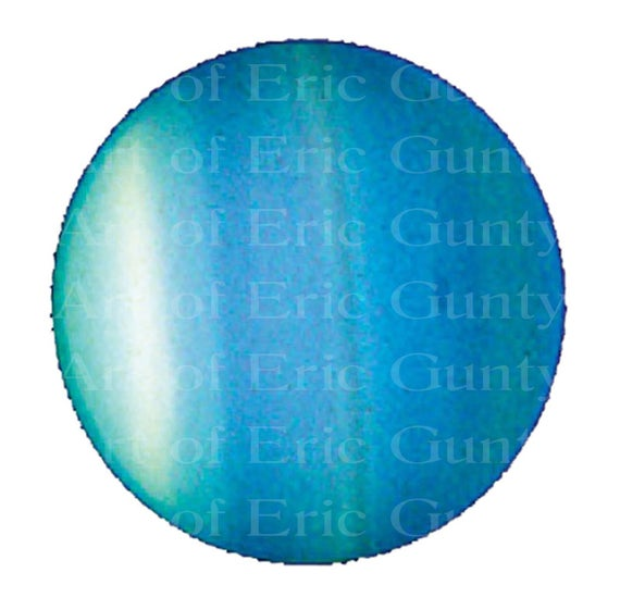 Uranus Planet Space - Edible Cake and Cupcake Topper For Birthday's and Parties! - D22585