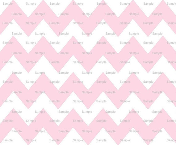 Big Pink - Chevron Background Birthday - Edible Cake and Cupcake Topper For Birthday's and Parties! - D9840