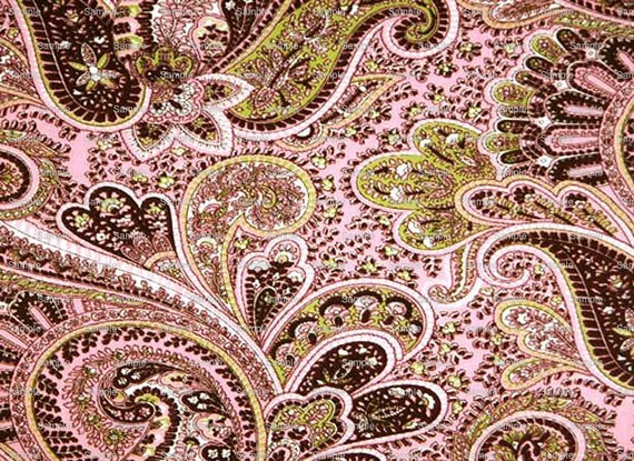 Pink Paisley Design Birthday - Edible Cake and Cupcake Topper For Birthday's and Parties! - D290