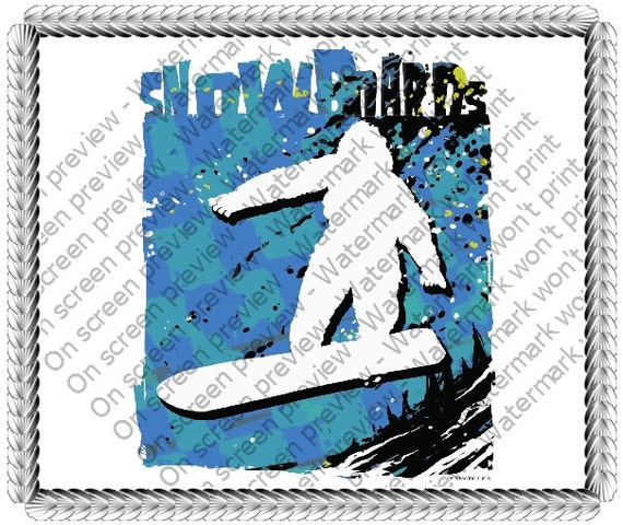 Snowboards ~ Edible 2D Fondant Birthday Cake/Cupcake Topper ~ D20072