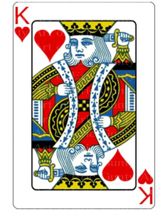 King of Hearts Poker Casino Birthday ~ Edible 2D Fondant Birthday Cake/Cupcake Topper ~ D21950