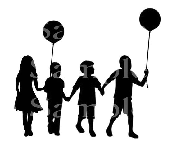 Kids Silhouette Birthday ~ Edible 2D Fondant Birthday Cake/Cupcake Topper ~ D24547