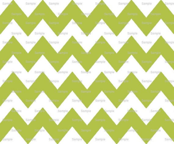Avocado Green - Chevron Background Birthday - Edible Cake and Cupcake Topper For Birthday's and Parties! - D9806