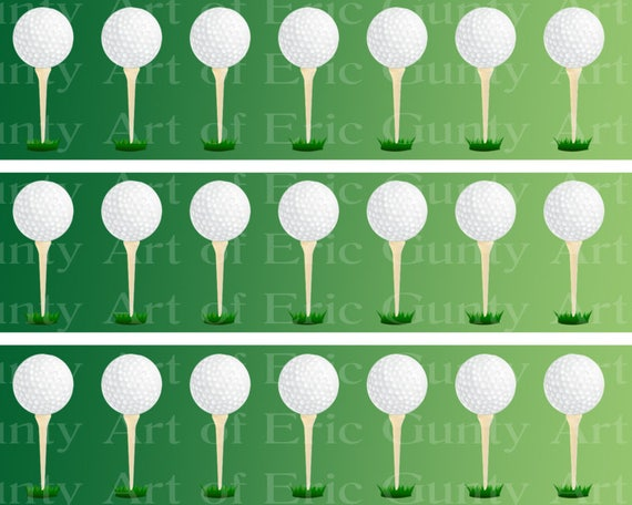 Golfing Golf Birthday - Side Strips - Edible Cake Side Toppers- Decorate The Sides of Your Cake! - D22757