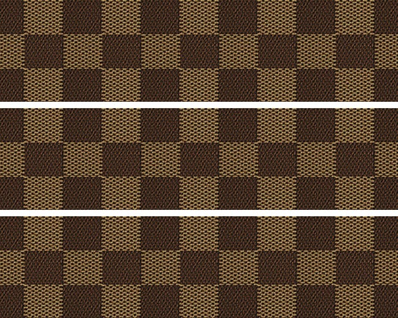 Brown Plaid Birthday - Side Strips ~ Edible 2D Fondant Birthday Cake Side Toppers ~ D24675