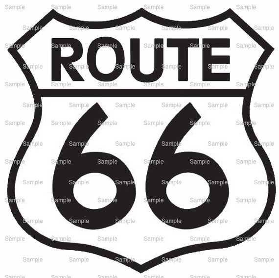 Route 66 Birthday - Edible Cake and Cupcake Topper For Birthday's and Parties! - D6484