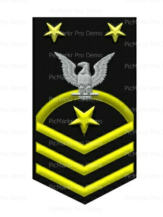 Navy Master Chief Petty Officer Military Insignia Birthday ~ Edible 2D Fondant Birthday Cake/Cupcake Topper ~ D20507