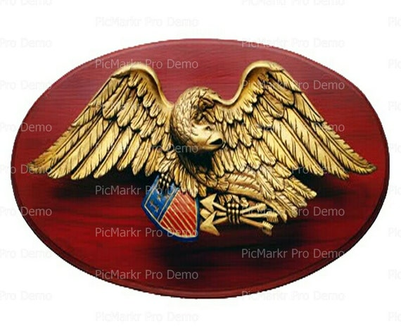 U.S. Army Eagle Medal Birthday - Edible Cake and Cupcake Topper For Birthday's and Parties! - D9378