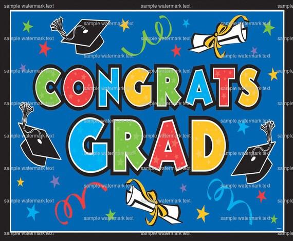 Congrats Grad ~ Edible 2D Fondant Birthday Cake/Cupcake Topper ~ D5926
