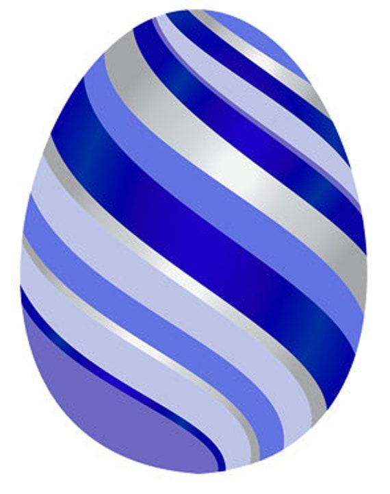 Blue Easter Egg Birthday ~ Edible 2D Fondant Birthday Cake/Cupcake Topper ~ D24680
